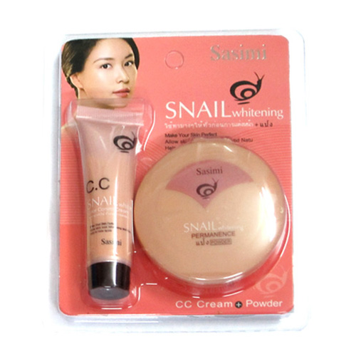 Bộ 2 BB Skin và phấn Snail Sasimi