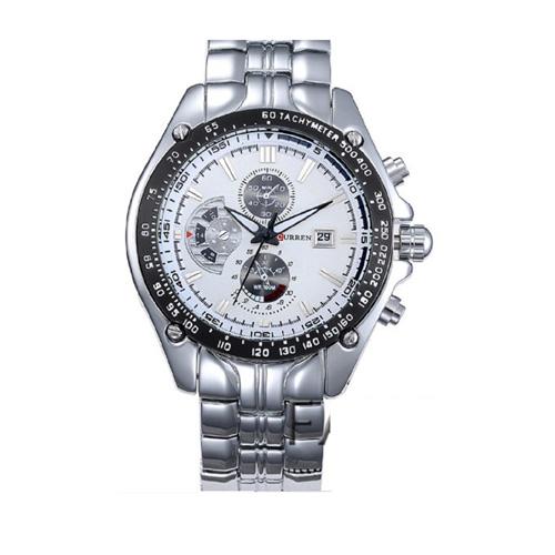 Đồng hồ nam dây Inox Curren DH50C CR002 (Trắng)