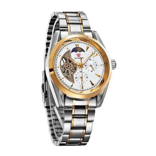 Đồng hồ nam dây thép không gỉ OUYAWEI OUY004 (Bạc)
