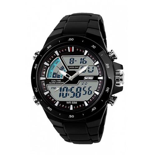 Đồng hồ nam dây nhựa SkmeiSK004 (Đen)