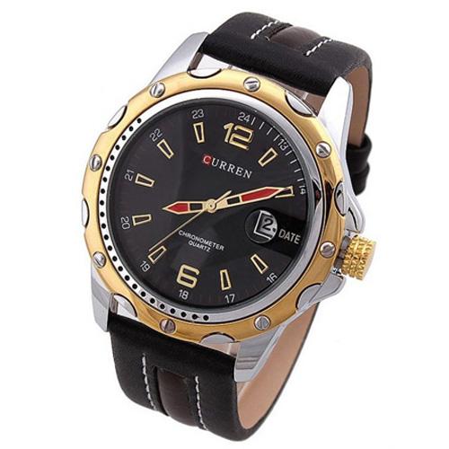 Đồng hồ nam dây da CURREN CR007 (Đen)