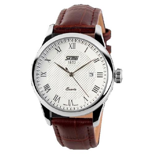 Đồng hồ nam dây da Skmei SK005 (Nâu)