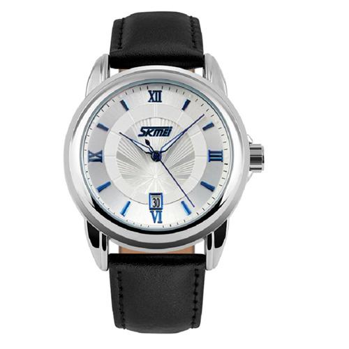 Đồng hồ nam dây da SKMEI SK044 (xanh)