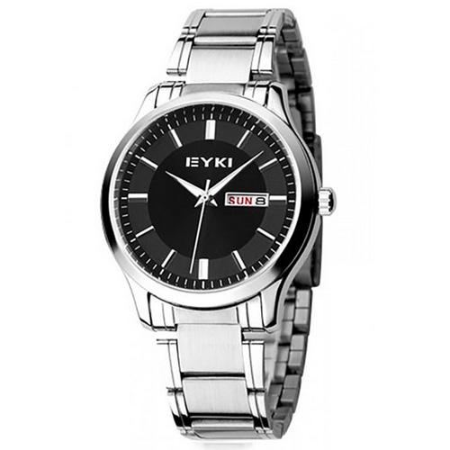 Đồng hồ thép mảnh nam dây kim loại cao cấp Skmei SK014 (Đen)
