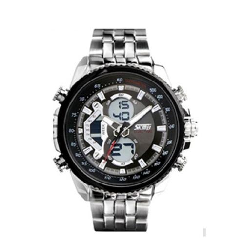 Đồng hồ nam dây thép không gỉ Skmei sk010 (Đen)