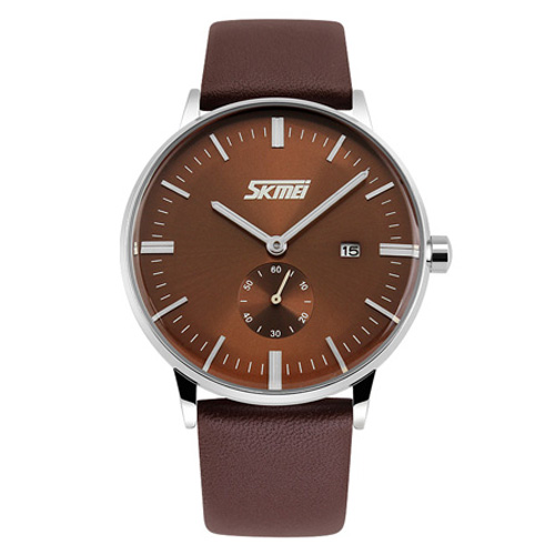 Đồng hồ nam SK042 dây da SKMEi (nâu)
