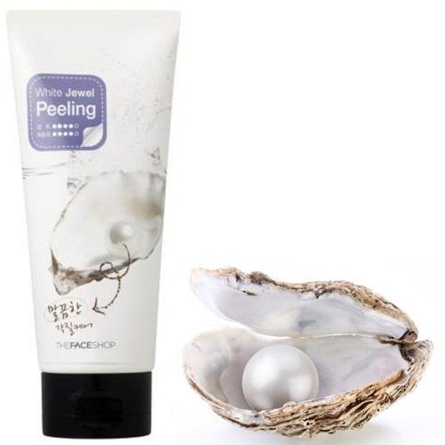 Tẩy da chết ngọc trai White Jewel Peeling The Face Shop