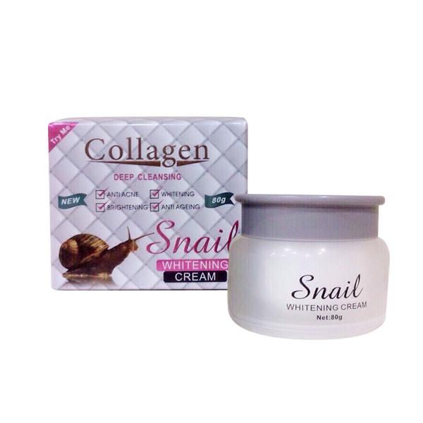 Kem trắng da chống nắng ốc sên Snail Whitening Collagen